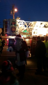 Santa greets the children at the 2014 Holiday Lighting