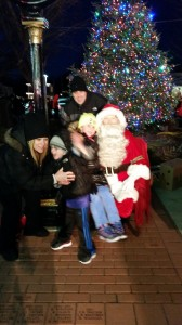Families with Santa Claus 2014 Holiday Lighting
