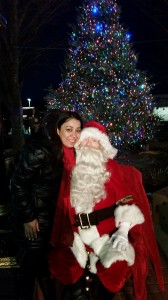 Incoming President  Chanbir Kaur with Santa Claus.